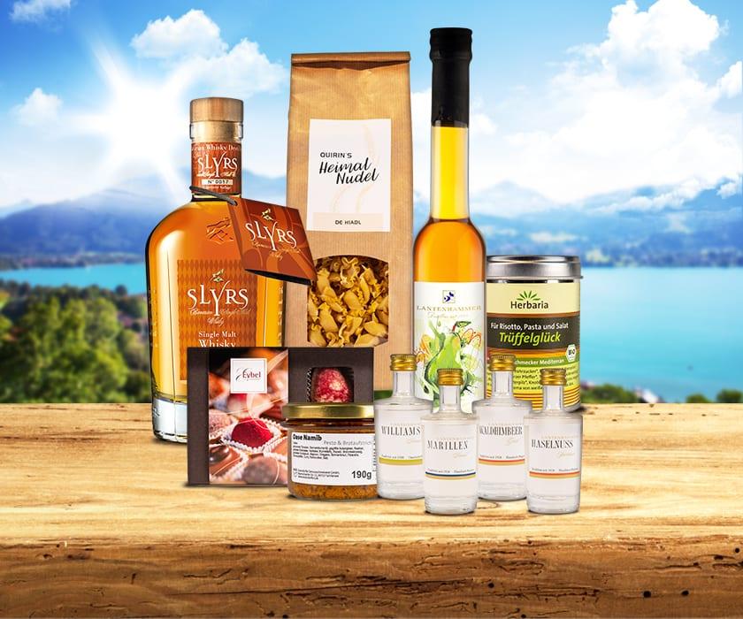 Gourmet Set Banner Tegernsee Arkaden Geschenkkörbe online bestellen